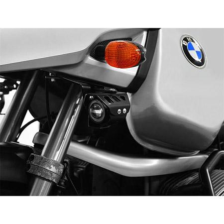 LED Zusatzscheinwerfer inkl. Halteset für Ablendlicht (Paar) mit Gehäuse für BMW R 1150 GS BJ 1999-04