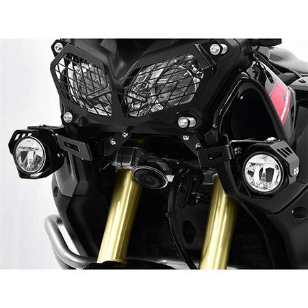 LED Zusatzscheinwerfer inkl. Halteset für Nebel (Paar) mit Gehäuse für Yamaha XT 1200 Z Super Tenere BJ 2016-19