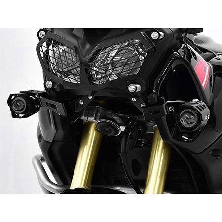 LED Zusatzscheinwerfer inkl. Halteset für Ablendlicht (Paar) mit Gehäuse für Yamaha XT 1200 Z Super Ténéré BJ 2016-19