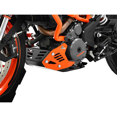 Motorschutz KTM 390 Duke BJ 2017-19 schwarz/orange