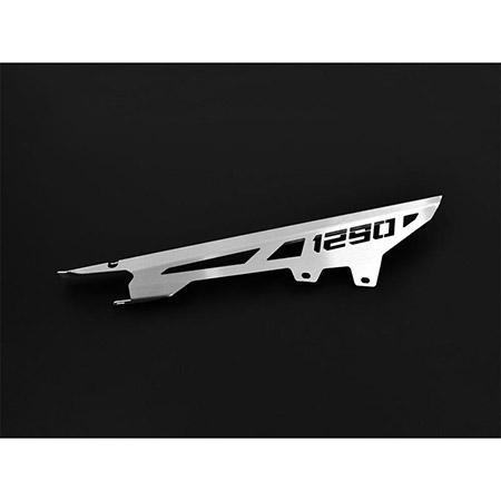 Kettenschutz KTM 1290 Super Adventure BJ 2014-19 Logo silber