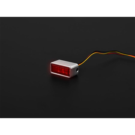 LED-Einbaurücklicht Brick3 rotes Glas inklusive passenden Gehäuse