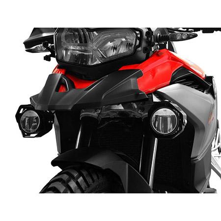 LED Zusatzscheinwerfer inkl. Halteset für Nebel (Paar) mit Gehäuse für BMW F 750 GS / F 850 GS BJ 2018-19 in rot