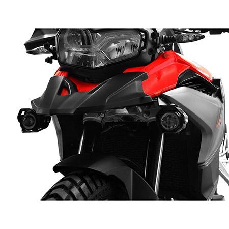 LED Zusatzscheinwerfer inkl. Halteset für Abblendscheinwerfer (Paar) mit Gehäuse für BMW F 750 GS / F 850 GS BJ 2018-19 in rot