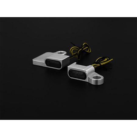 LED Armaturen Blinker SPORTSTER Modelle bis 2013 Typ 2 silber