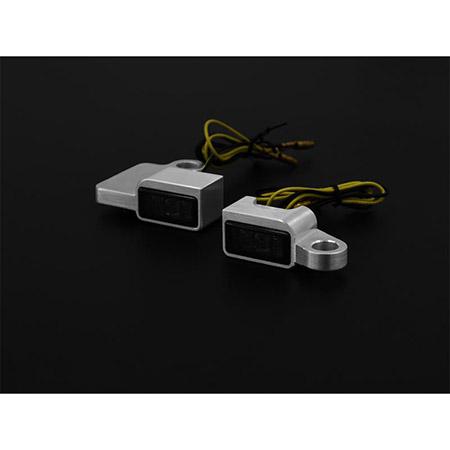LED Armaturen Blinker SPORTSTER Modelle bis 2013 Typ 3 silber