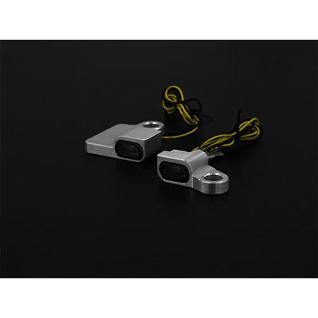 LED Armaturen Blinker SPORTSTER Modelle bis 2013 Typ 5 silber