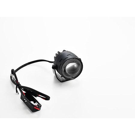 LED-Abblendscheinwerfer SATELLITE HIGHSIDER Paar mit CNC Halter RS2