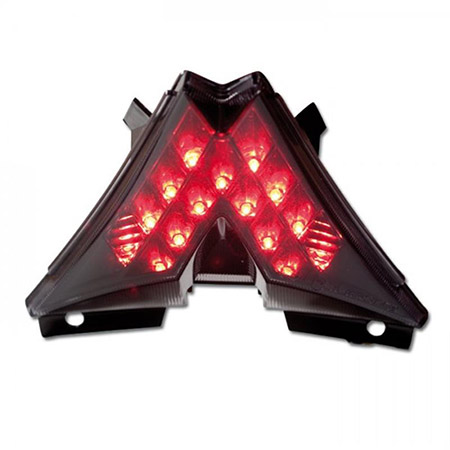 LED Rücklicht Aprilia RSV4 BJ 2009-19 / V4R Tuono BJ 2011-19 / RS4 125 BJ 2011-17 dunkel getönt, schwarzer Reflektor