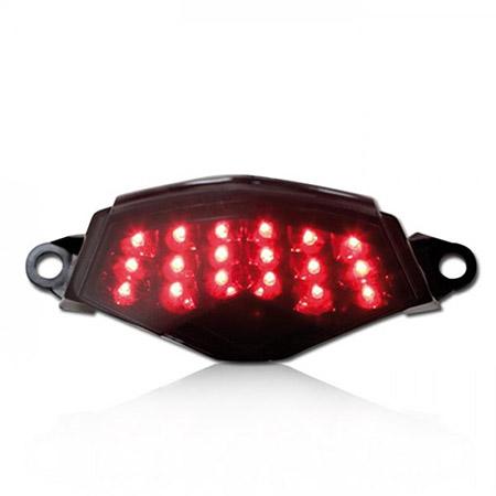 LED Rücklicht Kawasaki Z 750 / R BJ 2007-14 / Z 1000 BJ 2007-09 / ZX-6R BJ 2009-12 / ZX-10R BJ 2008-10 getönt E-geprüft