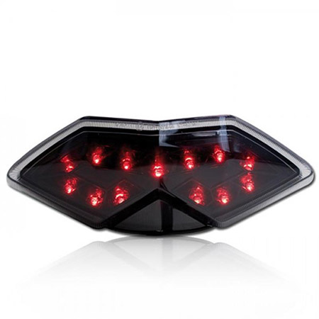 LED Rücklicht Kawasaki Z 1000 E / SX BJ 2010-13 / Tourer BJ 2011-13 / Versys 650 BJ 2010-14 getönt E-geprüft