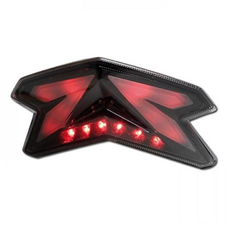 LED Rücklicht Kawasaki ZX-6R 636 BJ 2013-16 / Z 800 / e BJ 2013-16 getönt E-geprüft