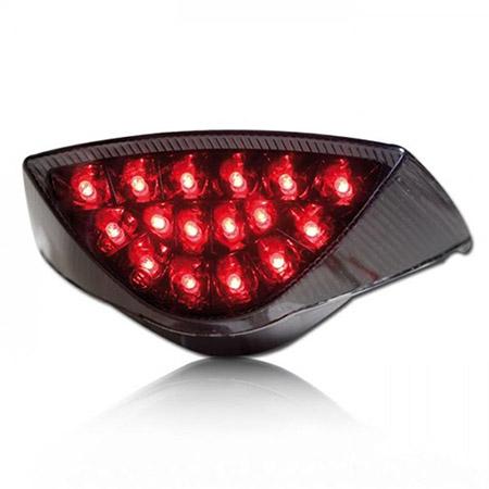 LED Rücklicht KTM 625 LC4 SMC alle / 640 LC4 SMC alle / 660 LC4 SMC BJ 2003-06 / 950 Supermoto / R BJ 2006-08 / 990 Supermoto R/T BJ 2009-13 getönt E-geprüft