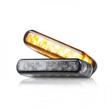 LED-Einbaublinker Shorty getönt Paar
