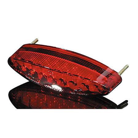 Universal Motorrad LED-Mini-Rücklicht NUMBER1, rotes Glas, mit Nummernschildbeleuchtung
