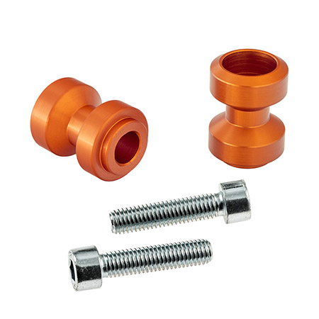 Bobbins / Racingadapter Montageständer M10 orange (mit Distanzhülse)