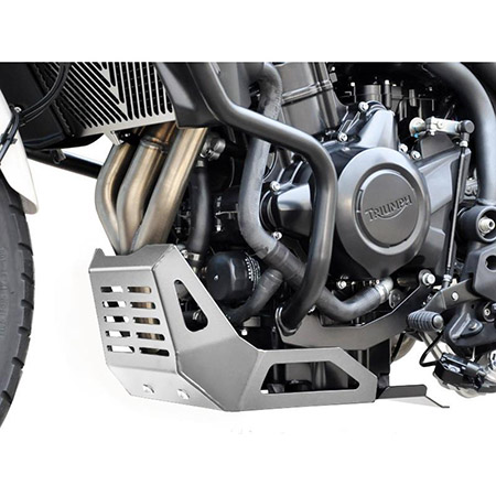 Motorschutz Triumph Tiger 800 / 800 XC BJ 2010-18 silber