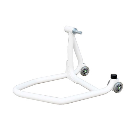 Einarm Montageständer Hinterrad weiß inkl. Adapter für Ducati 21,8-25,9mm