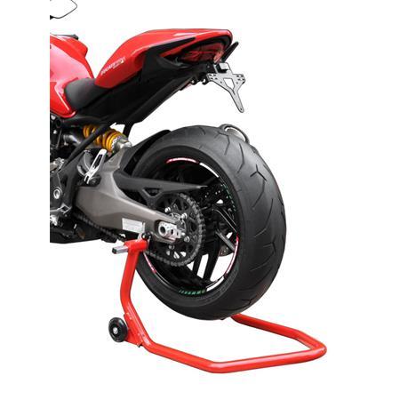 Montageständer Hinterrad für Racingadapter/Bobbins rot
