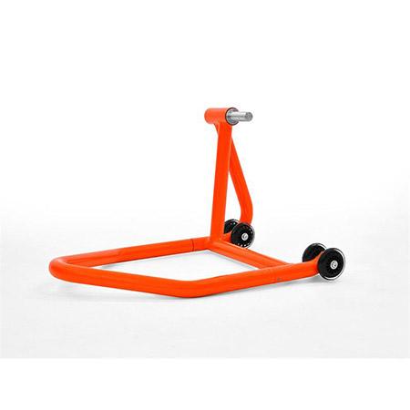 Montageständer Hinterrad für Einarmschwinge links orange