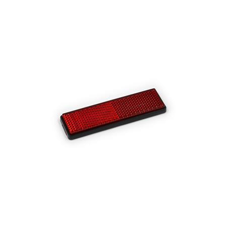 Rückstrahler selbstklebend rot 28 x 94 mm