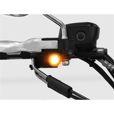 LED Armaturenblinker Harley Davidson Typ 4 silber