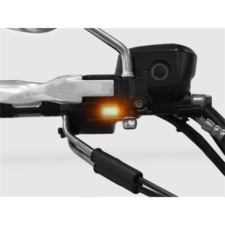 LED Armaturenblinker Harley Davidson Typ 5 silber