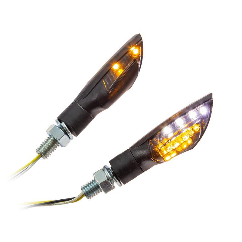 universal motorrad led blinker dual mit standlichtfunktion. Black Bedroom Furniture Sets. Home Design Ideas