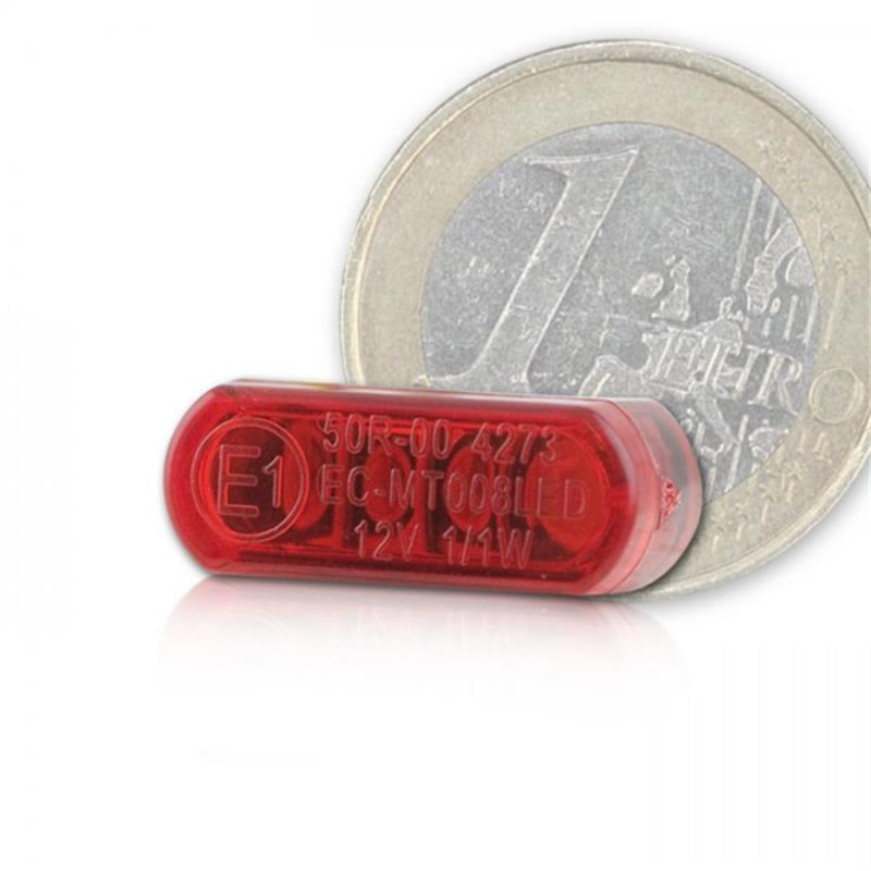 CNC -Gehäuse inklusive LED-Einbaurücklicht  Shorty klein rot