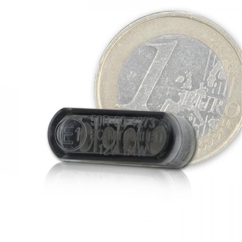 CNC -Gehäuse inklusive LED-Einbaurücklicht  Shorty klein getönt