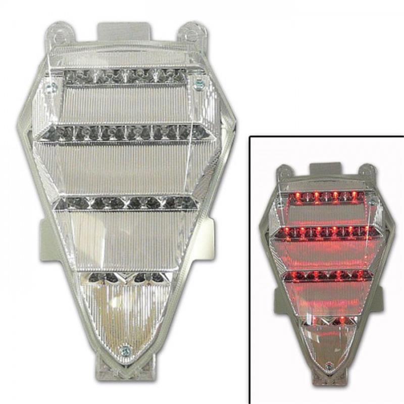 LED Rücklicht Yamaha YZF-R6 BJ 2008-15 klar E-geprüft