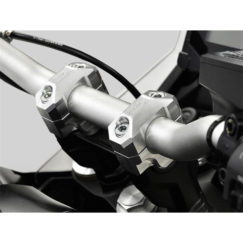ZIEGER Lenkererhöhung KTM 790 Adventure BJ 2019-20 20mm silber