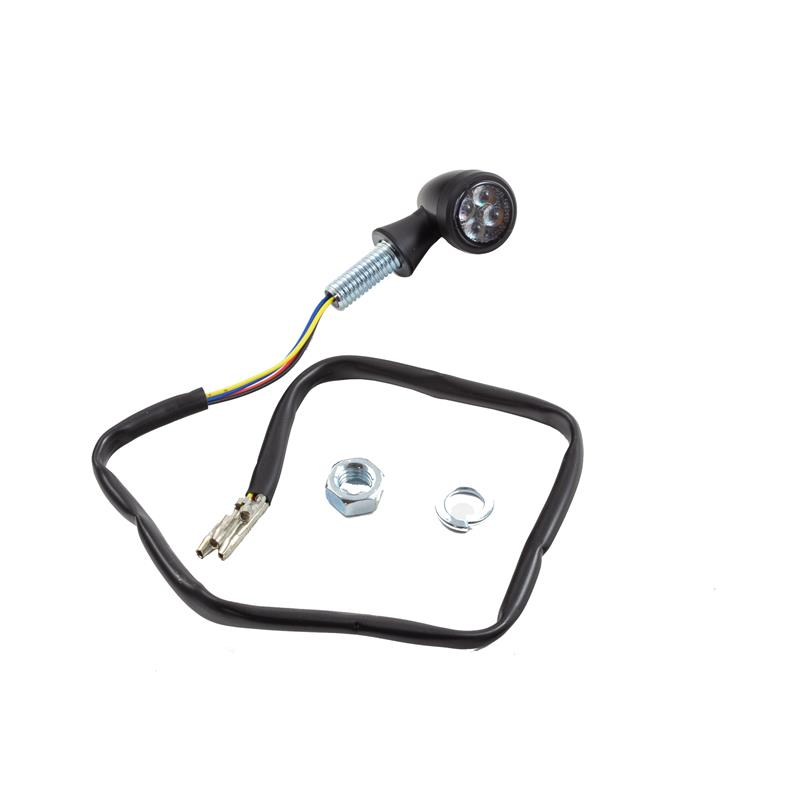 Universal Motorrad LED-Blinker Bullet mit Rücklichtkombination getönt M8 E-geprüft