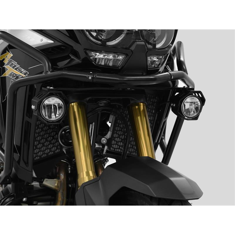 LED Zusatzscheinwerfer inkl. Halteset für Ablendlicht (Paar) mit Gehäuse für Honda CRF 1100 L Africa Twin BJ 2020-21