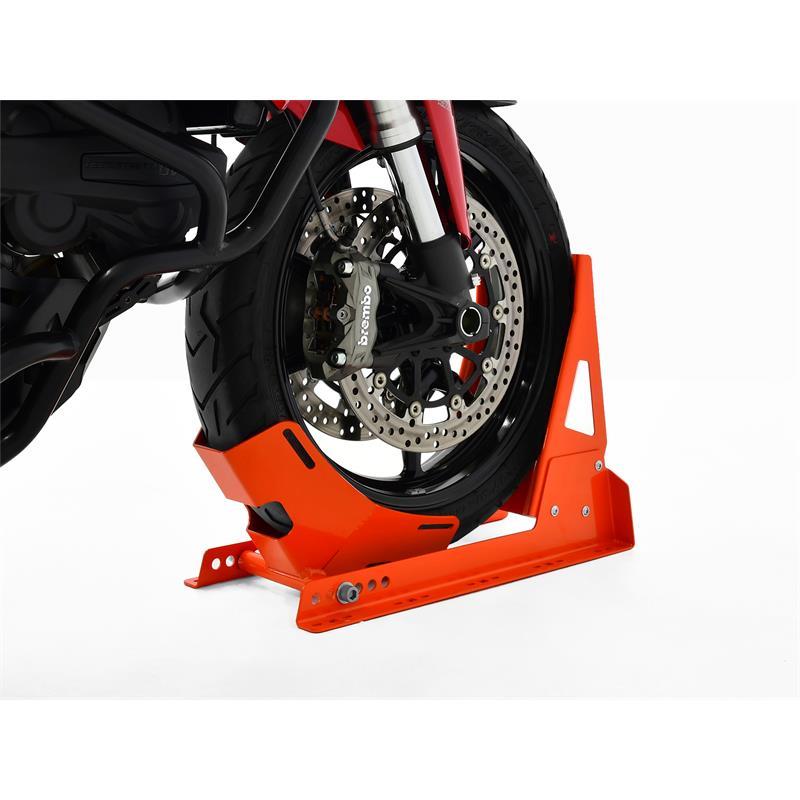 Montageständer Vorderrad  Wippe Transportwippe orange