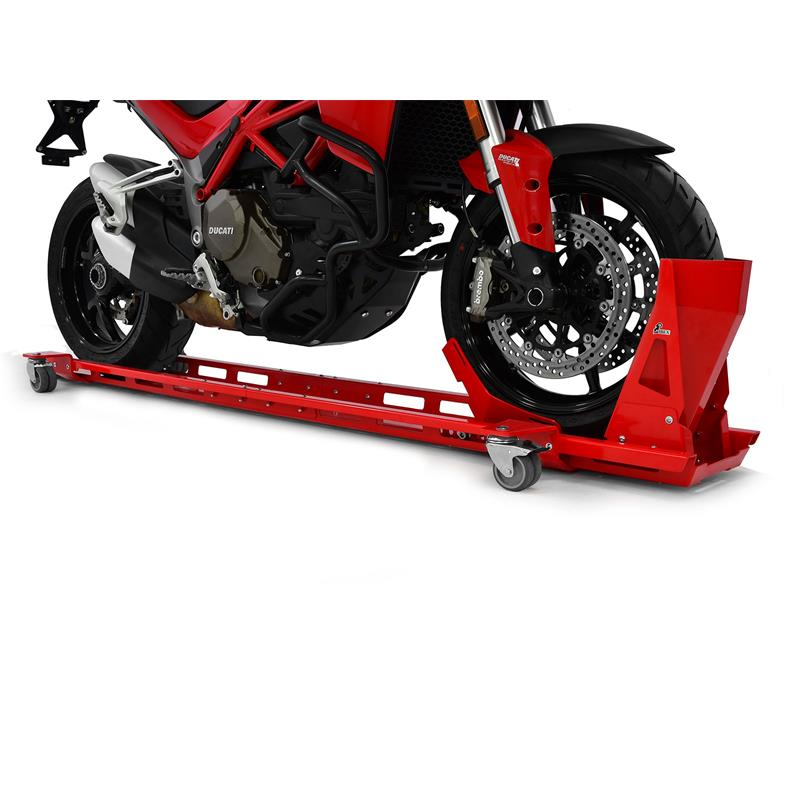 Rangierschiene inkl. Wippe für Motorrad rot
