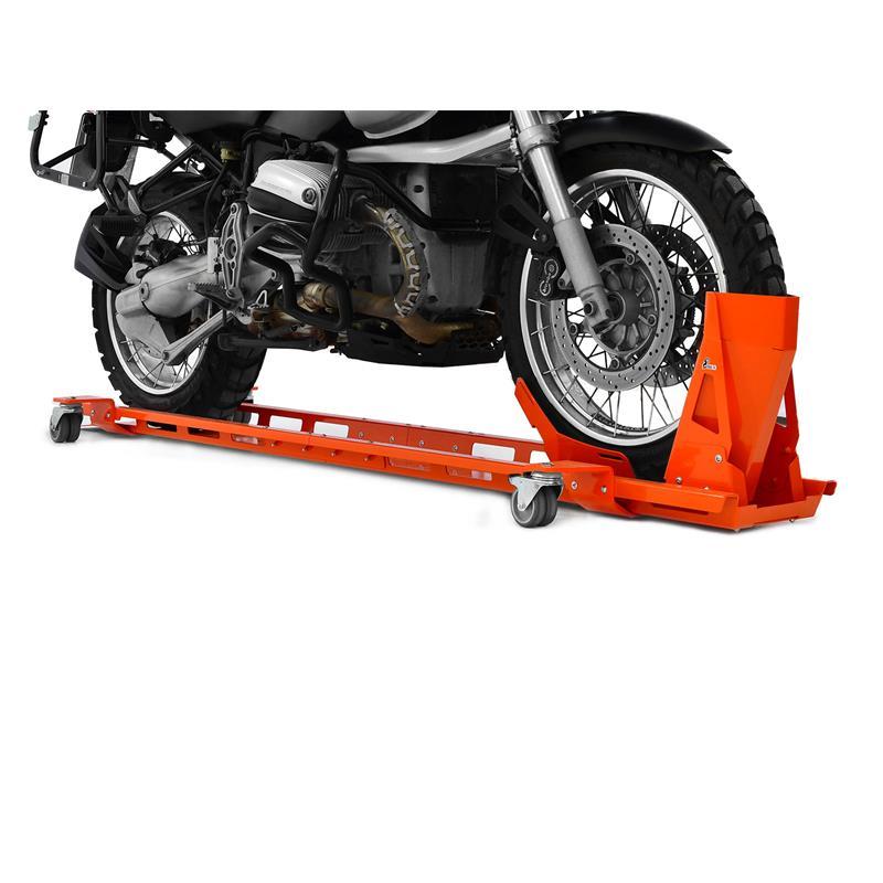 """Motorradwippe Montageständer Vorderrad Wippe 17/""""-21/"""" Transportwippe orange IBEX"""
