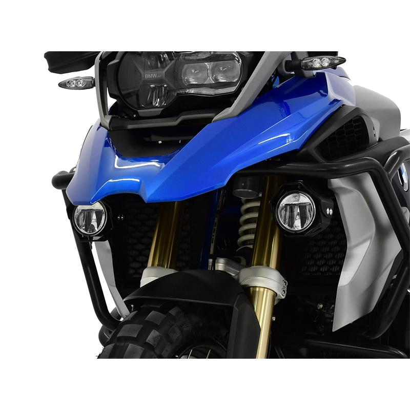 LED Zusatzscheinwerfer inkl. Halteset für Nebel (Paar) mit Gehäuse für BMW R 1200 GS BJ 2013-18 zur Verwendung mit Sturzbügel