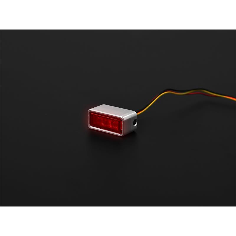 LED-Einbaurücklicht Brick3 getönt inklusive passenden Gehäuse