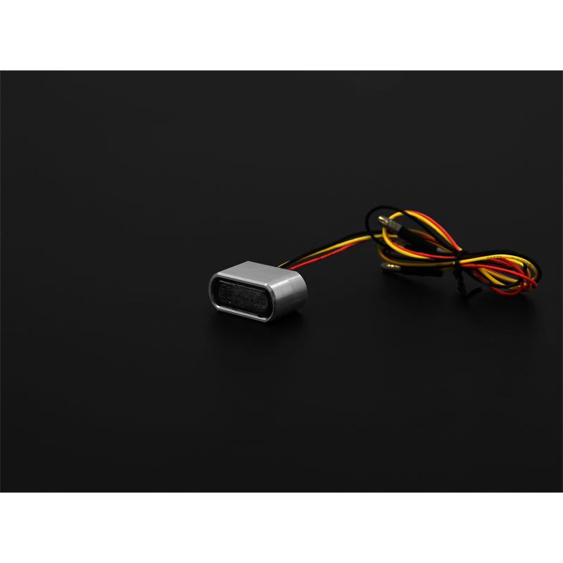 LED-Einbaurücklicht  Shorty klein rot inklusive passenden Gehäuse