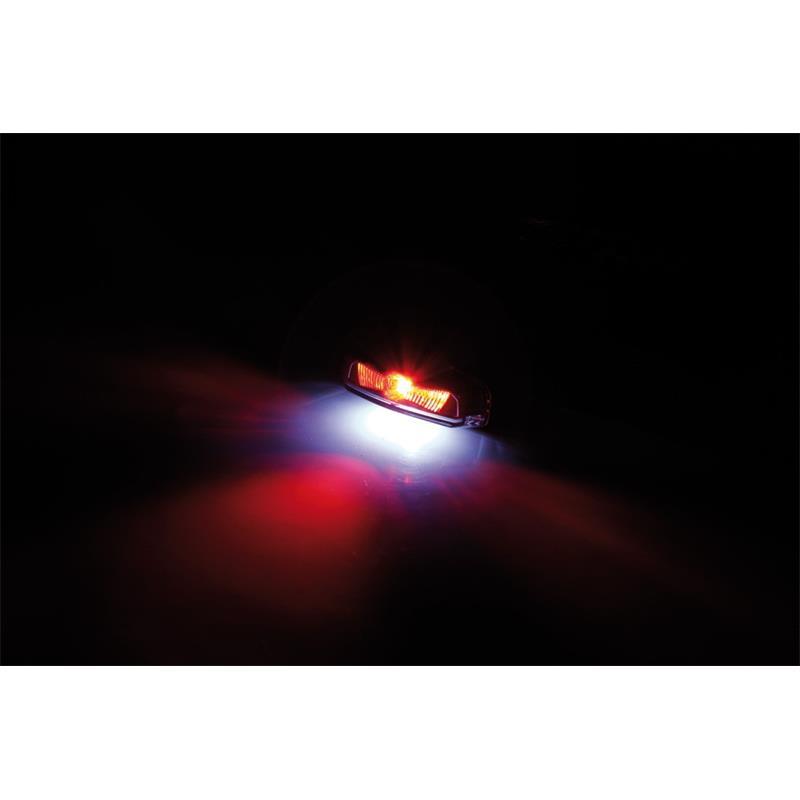 LED-Rücklicht Koso Hawkeye getönt mit Kennzeichenbeleuchtung
