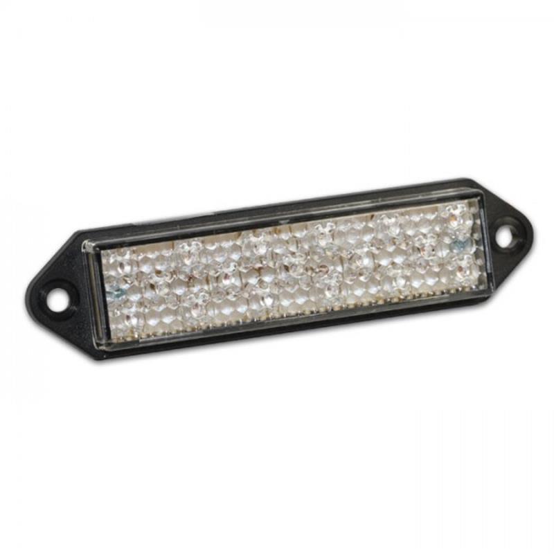 Universal Motorrad LED-Rücklicht Superflat mit Befestigungslaschen ohne Kennzeichenbeleuchtung E-geprüft