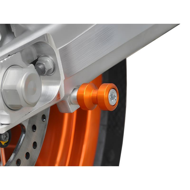 Bobbins / Racingadapter Montageständer M10 x 1,25 orange (mit Distanzhülse)