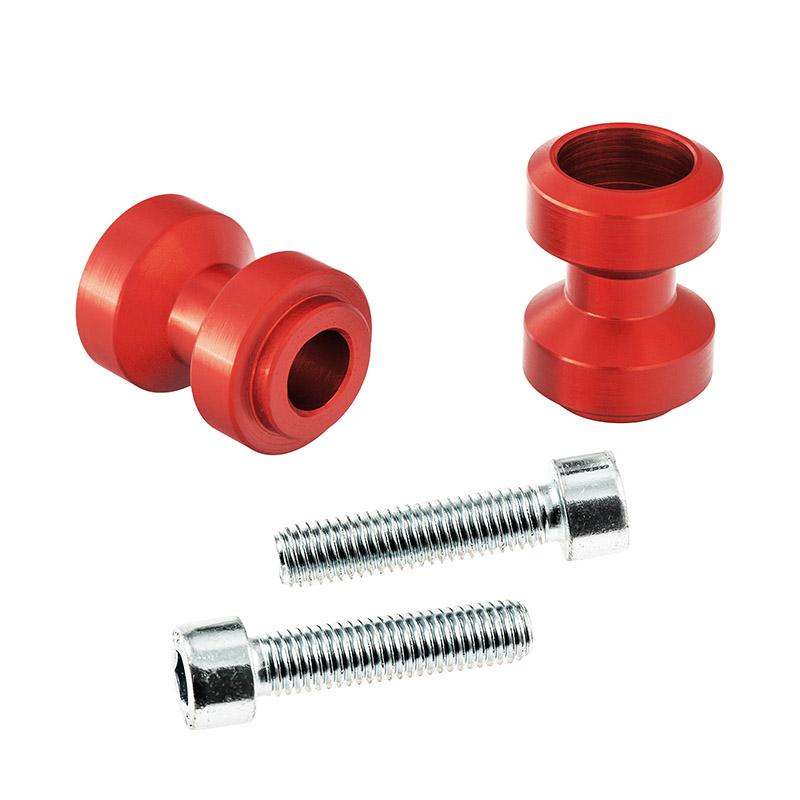 Bobbins / Racingadapter Montageständer M10 rot (mit Distanzhülse)