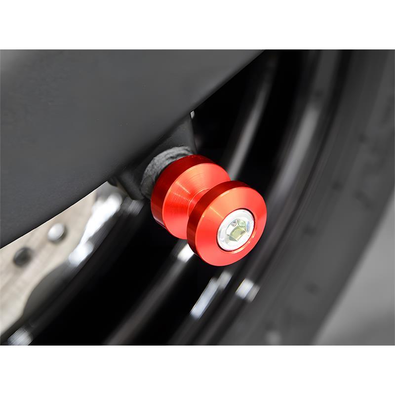 Bobbins / Racingadapter Montageständer M8 rot (mit Distanzhülse)