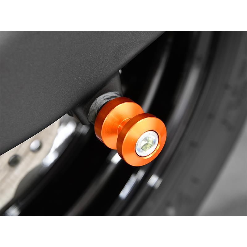 Bobbins / Racingadapter Montageständer M8 orange (mit Distanzhülse)