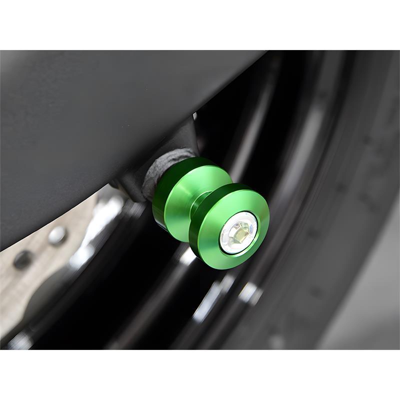 Bobbins / Racingadapter Montageständer M8 grün (mit Distanzhülse)